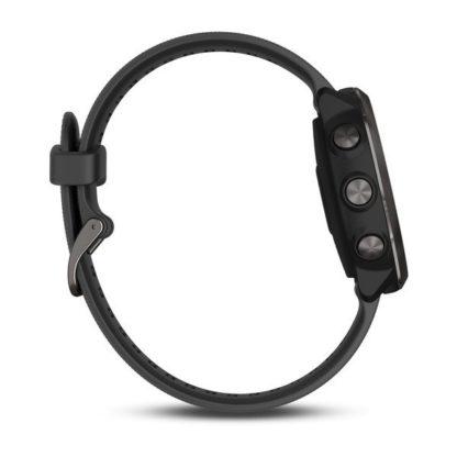 Forerunner® 645 Music popielaty z paskiem w kolorze czarnym