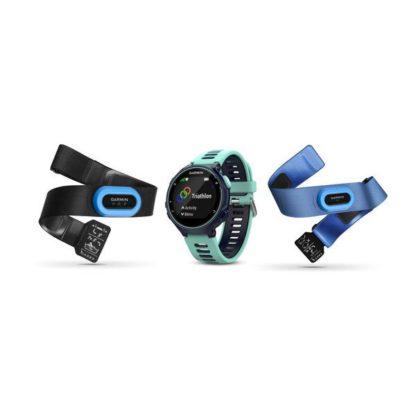 Forerunner® 735XT czarno jasnobłękitny z czujnikami triathlonu