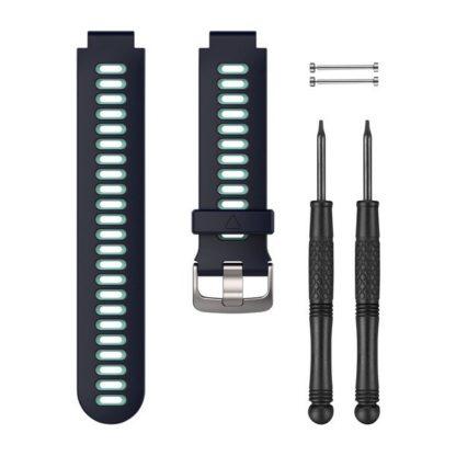 Granatowy jasnobłękitny pasek do zegarka Forerunner® 735XT
