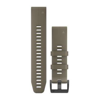 Paski do zegarka QuickFit® 22 Jasnobrązowy silikonowy
