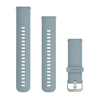 Pasek 20 mm Turkusowo srebrny silikonowy