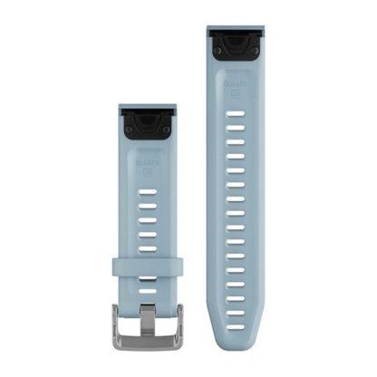 Paski do zegarka QuickFit® 20 Turkusowo niebieski silikonowy