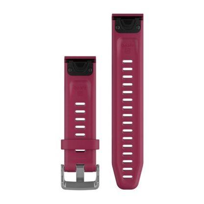 Paski do zegarka QuickFit® 20 Wiśniowy silikonowy