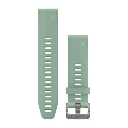 Paski do zegarka QuickFit® 20 Bladozielony silikonowy