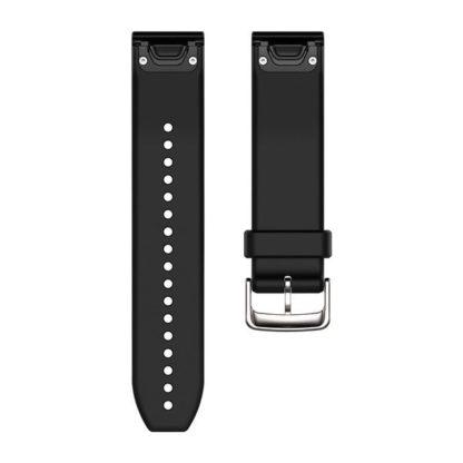 Paski do zegarka QuickFit® 22 Srebrno czarny silikonowy