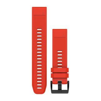Paski do zegarka QuickFit® 22 Ognistoczerwony silikonowy