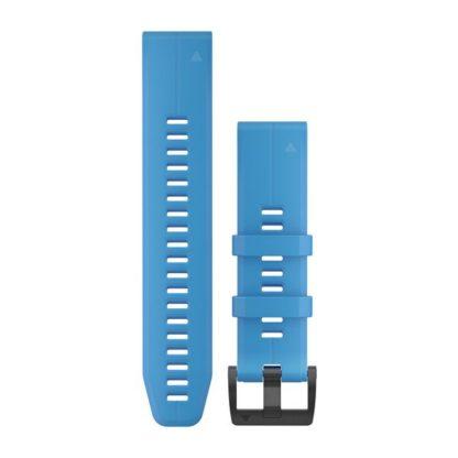 Paski do zegarka QuickFit® 22 Cyjanowy silikonowy