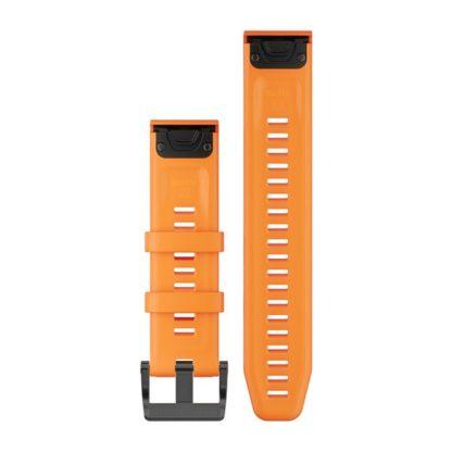 Paski do zegarka QuickFit® 22 Pomarańczowy silikonowy