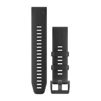 Paski do zegarka QuickFit® 22 Czarny silikonowy