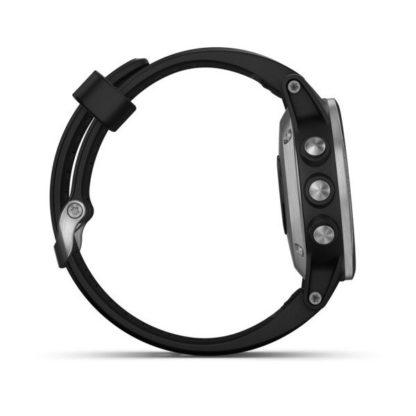 fēnix® 5S Plus srebrny z czarnym paskiem