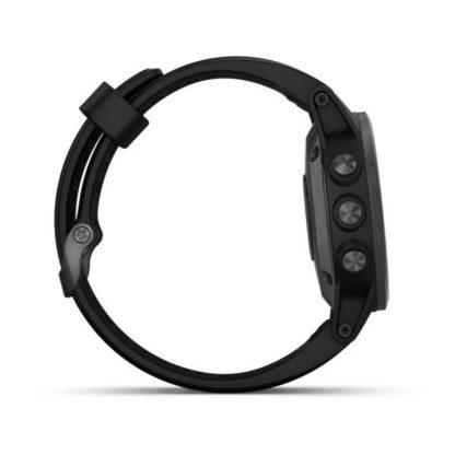 fēnix® 5S Plus Sapphire czarny z czarnym paskiem