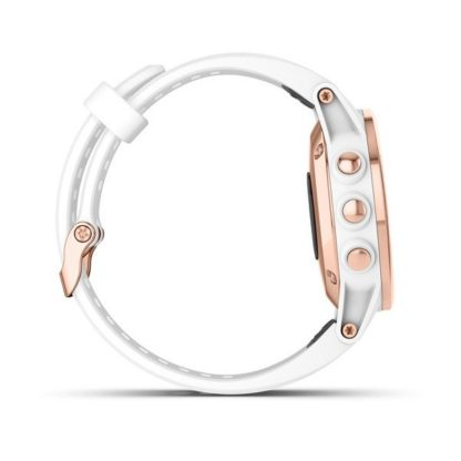 fēnix® 5S Plus Sapphire różowo złoty z białym paskiem