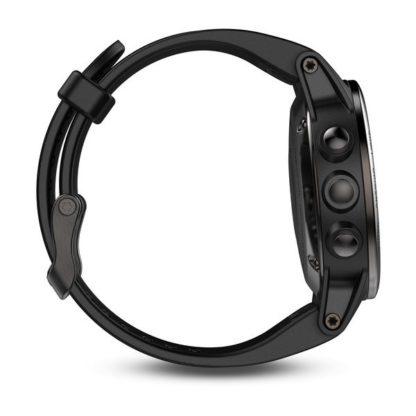 fēnix® 5S czarny Sapphire z czarnym paskiem
