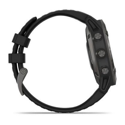 fēnix 6 – Pro i Sapphire Sapphire, szary z powłoką węglową (DLC) i czarnym paskiem
