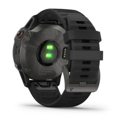 fēnix 6 Sapphire, szary z powłoką węglową (DLC) i czarnym paskiem