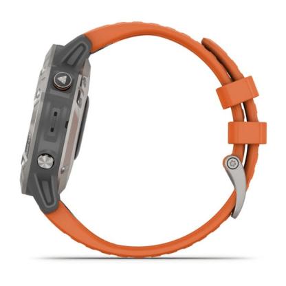 fēnix 6 – Pro i Sapphire Tytanowy z ciemnopomarańczowym paskiem