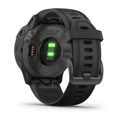 fēnix 6S – Pro i Sapphire Szary z powłoką węglową (DLC) i czarnym paskiem