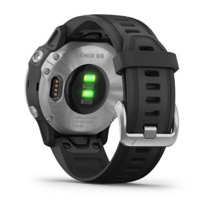 fēnix® 6S, srebrny z czarnym paskiem