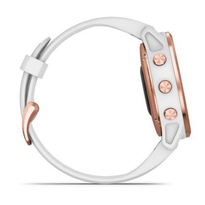 fēnix 6S – Pro i Sapphire Różowozłoty z białym paskiem