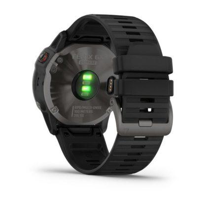 fēnix 6X Sapphire, szary z powłoką węglową (DLC) i czarnym paskiem