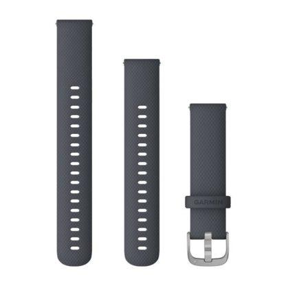Paski z mechanizmem szybkiego odłączania (18 mm) Granatowy ze srebrnym zapięciem