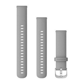 Paski z mechanizmem szybkiego odłączania (18 mm) Jasnoszare ze srebrnym zapięciem