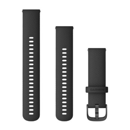 Paski z mechanizmem szybkiego odłączania (22 mm) Czarny z popielatym zapięciem