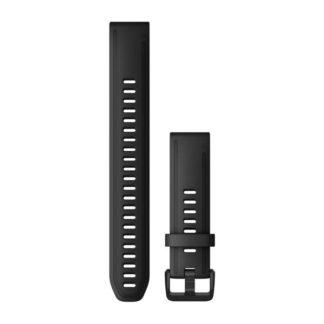 Paski do zegarka QuickFit® 20 Czarny silikonowy (duży)