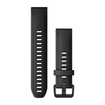 Paski do zegarka QuickFit® 20 Czarny silikonowy