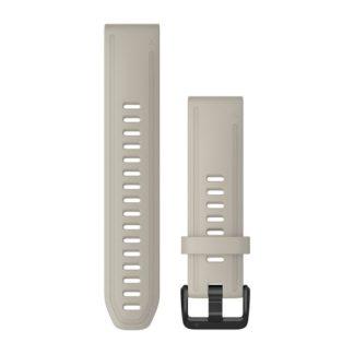 Paski do zegarka QuickFit® 20 Jasny piaskowy silikonowy