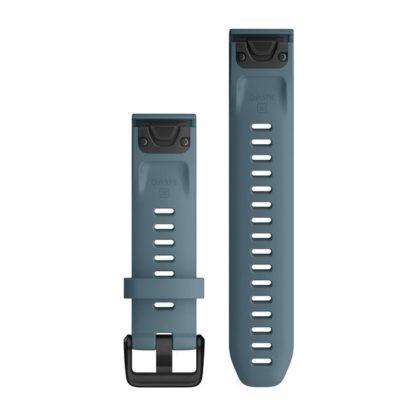 Paski do zegarka QuickFit® 20 Stalowoniebieski silikonowy