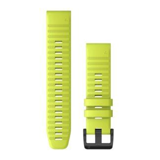 Paski do zegarka QuickFit® 22 Żółty z czarnym zapięciem silikonowy
