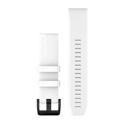 Paski do zegarka QuickFit® 22 Biały z czarnym zapięciem ze stali nierdzewnej