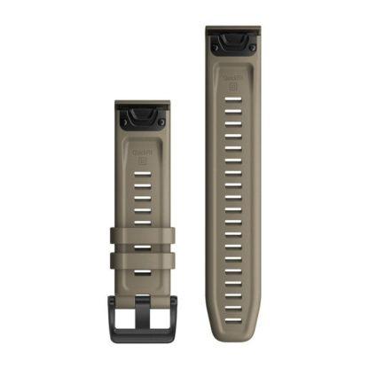 Paski do zegarka QuickFit® 22 Ciemny piaskowy silikonowy