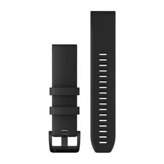 Paski do zegarka QuickFit® 22 Czarny z zapięciem ze stali nierdzewnej