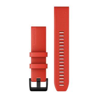 Paski do zegarka QuickFit® 22 Czerwony z czarnym zapięciem ze stali nierdzewnej