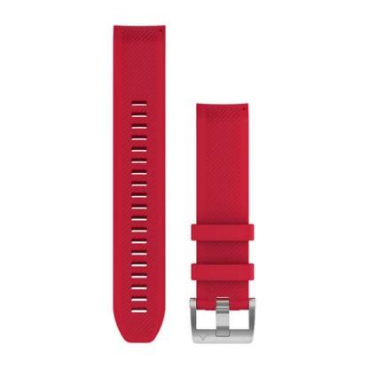 Paski do zegarka QuickFit® 22 Silikonowy pasek w kolorze czerwonej plazmy