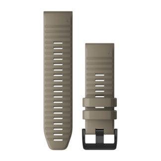 Paski do zegarka QuickFit™ 26 Ciemny piaskowy silikonowy