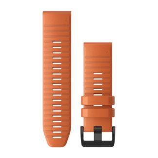 Paski do zegarka QuickFit™ 26 Ciemnopomarańczowy silikonowy